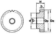 Чертеж зубчатого колеса (шестерни) Sati