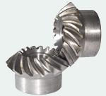 Коническое зубчатое колесо (шестерня) со спиральными зубьями