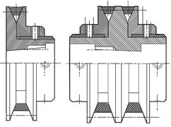 Вариаторные шкивы (одноручьевые и двухручьевые) Sati s.p.a.