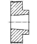 Эскиз поликлинового шкива
